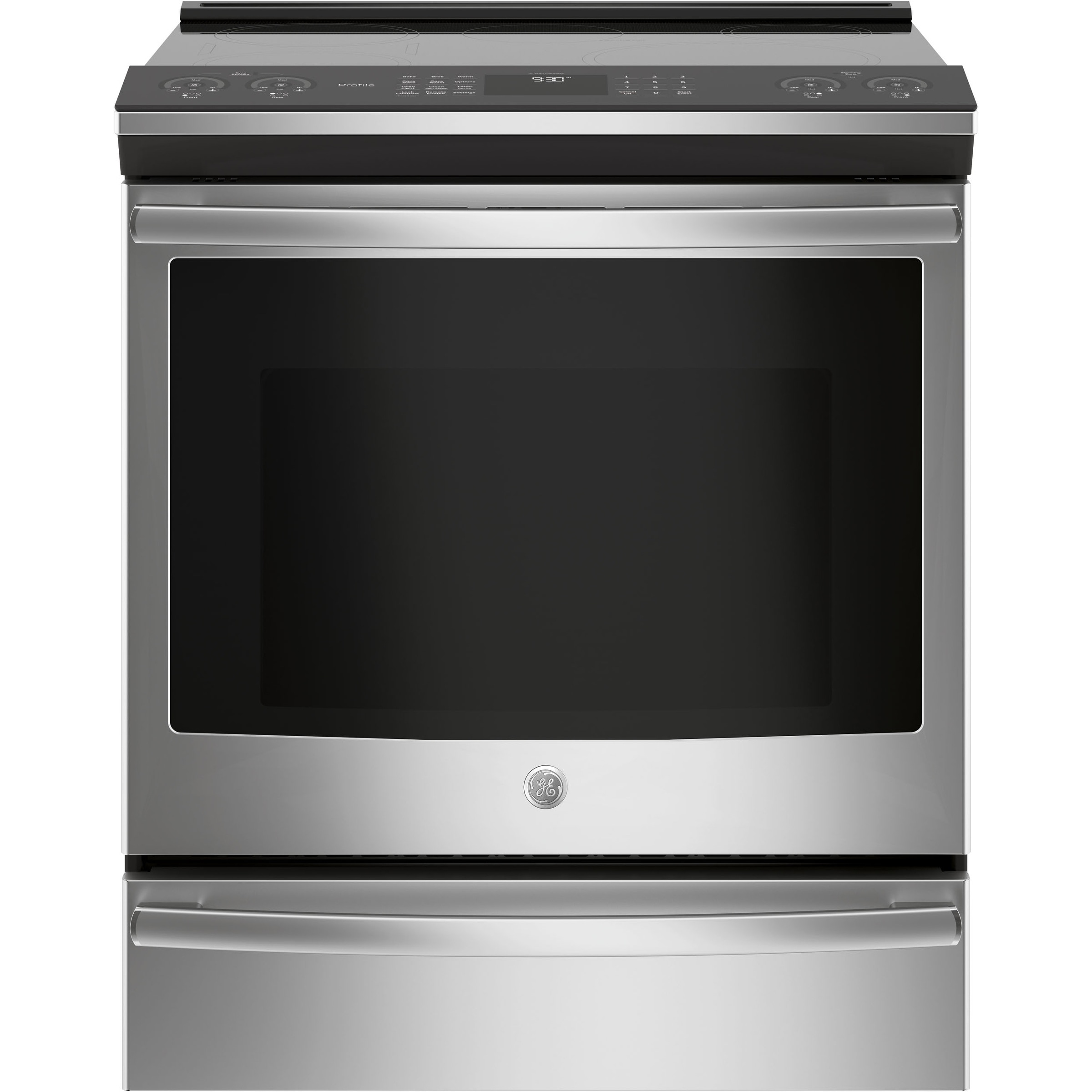 """GE Profile Series 30"""" Slide-In Front Control Induction an..."""