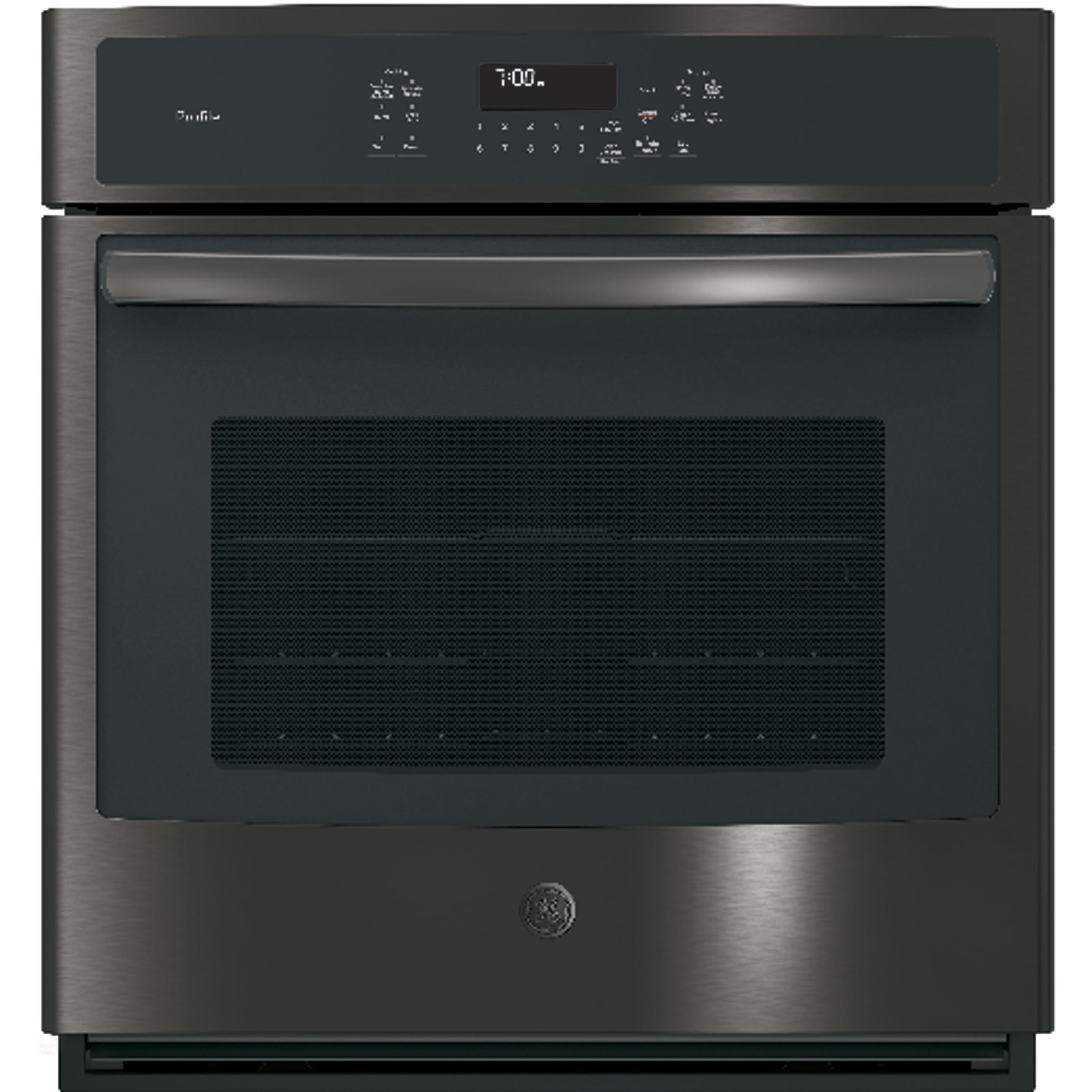 GE Profile Series 27 Inch Built-In Single Convection Wall Oven in Black Stainless Assembled - Black
