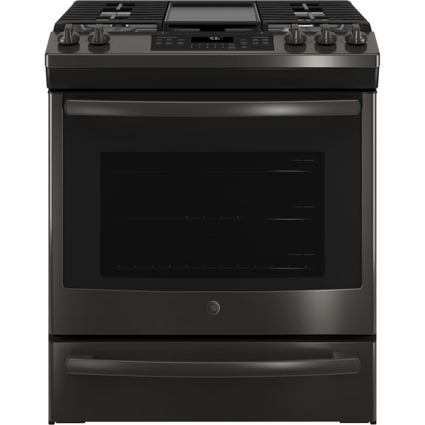 """GE 30"""" Slide-In Front Control Convection Gas Range"""