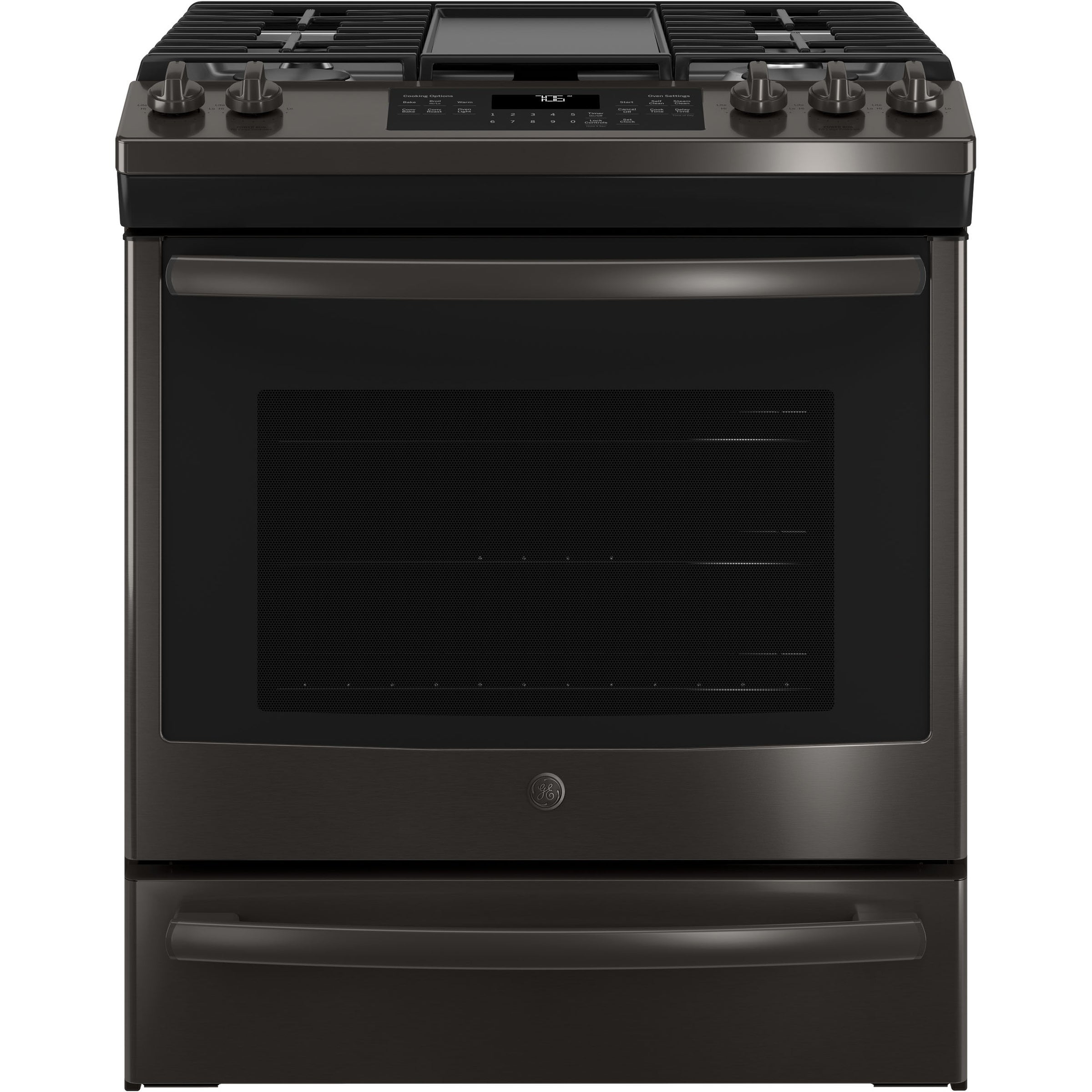 "GE 30"" Slide-In Front Control Convection Gas Range (Assem..."