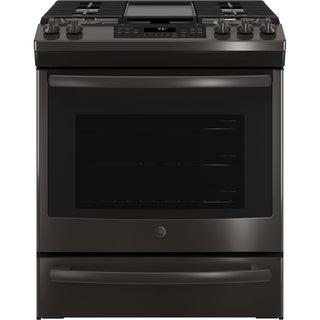 "GE 30"" Slide-In Front Control Convection Gas Range"