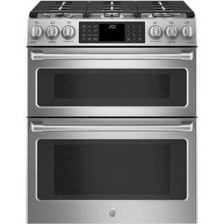 Ge Café Series 30 Slide In Front Control Dual Fuel Double Oven With