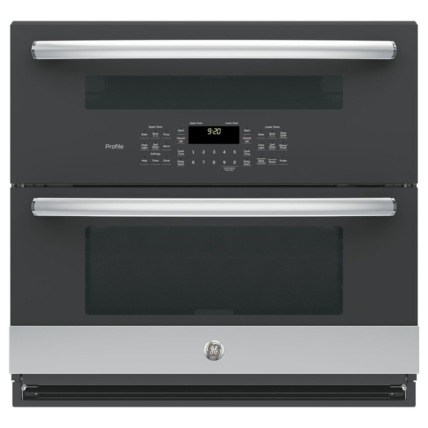 "GE Profile Series 30"" Built-In Twin Flex Convection Wall Oven - Stainless Steel"