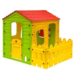 Fun Playhouse with One Side Fence