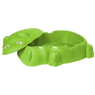 Hippo Pool/Sandpit w/Cover, Green