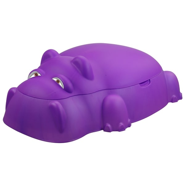 Hippo Pool/Sandpit w/Cover, Purple