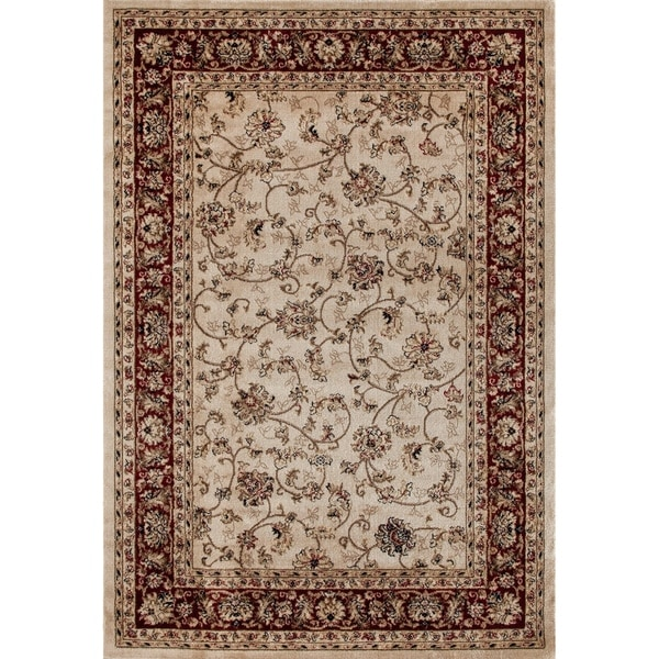 Traditional Wowen Cream Rug - 2' x 3'