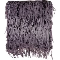 Michael Amini Cobra Yarn Purple Throw Pillow (18-Inch X 18-Inch)
