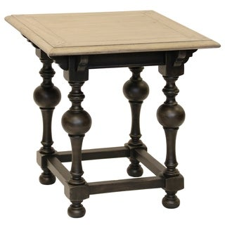Colorado Black/Brown Wood Finish Square End Table