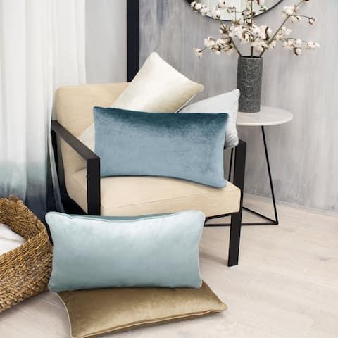 Jean Pierre Lucas Lumbar Velvet 2-Piece Throw Pillow Set