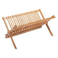 Eco-Friendly Bamboo Dish Rack 17In 2 Tier Dish Rack Bamboo Dish Drainer