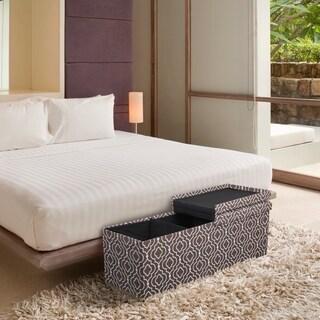 Storage Ottoman Bench 45 Inch Crown Comfort Smart Lift Top Upholstered, Moroccan Brown - Crown Comfort