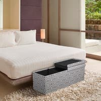 Storage Ottoman Bench 45 inch Crown Comfort Smart Lift Top Upholstered - Moroccan Grey