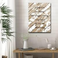 Ready2HangArt 'Integrity' Inspirational Canvas Art - Brown