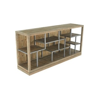 Aurelle Home Mayer Natural Wood Horizontal Display Shelf