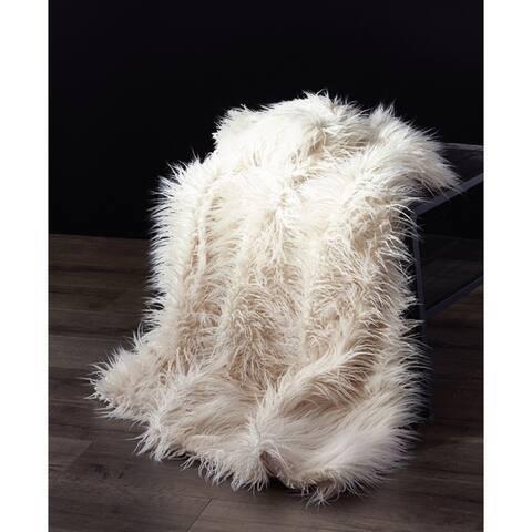 Mongolian Soft Shaggy Fauxfur Throw