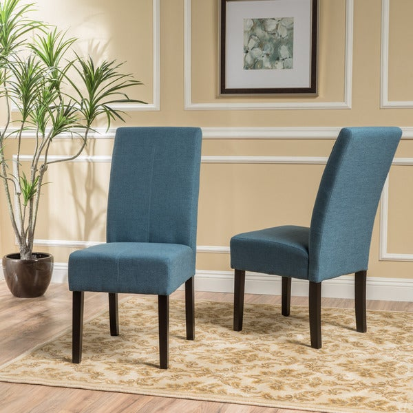 Shop T Stitch Fabric Dining Chair In Blue Set Of 2 By