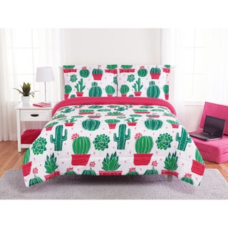 Happy Cactus 3-piece Comforter Set