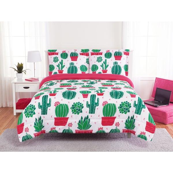 happy cactus 3 piece comforter set - Cactus Bedding