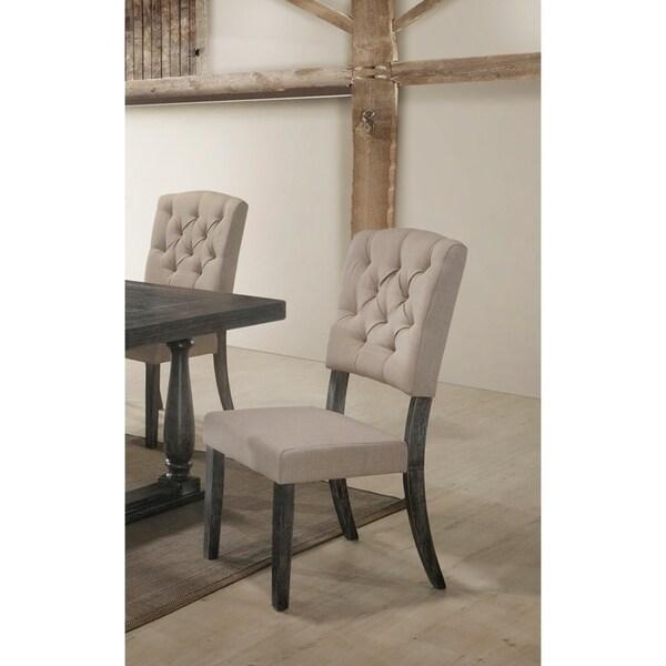 Shop Best Master Furniture Weathered Oak Sleigh: Shop Best Master Furniture Weathered Oak Side Chair (Set