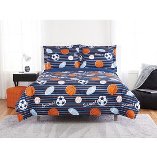 Stripes & Goals 3-piece Comforter Set