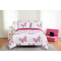 Flower Butterfly 3-piece Comforter Set
