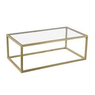 Goldtone Brass and Iron Gilt Coffee Table