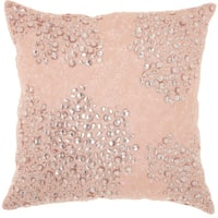 Mina Victory Luminecence Fully Beaded Rose Throw Pillow (20-Inch X 20-Inch)