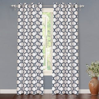 Link to DriftAway Geo Trellis Room Darkening Grommet Top Window Curtain Panel Pair Similar Items in Window Treatments