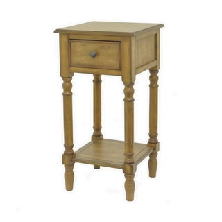 Urban Designs Ella Collection Wood 1-drawer Storage Accent End Table