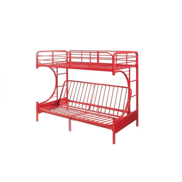 Acme Eclipse Twin Over Full Futon Bunk Bed In Red