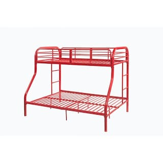 Shop Acme Tritan Twin Over Full Bunk Bed In Red Free Shipping