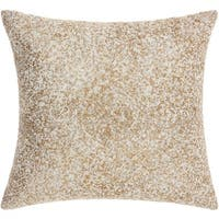 Mina Victory Luminecence Diamond Gradiation Silver Gold Throw Pillow (18-Inch X 18-Inch)