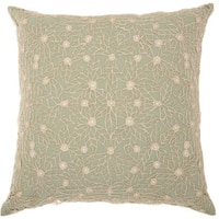 Mina Victory Life Styles Crochet Sage Throw Pillow (20-Inch X 20-Inch)