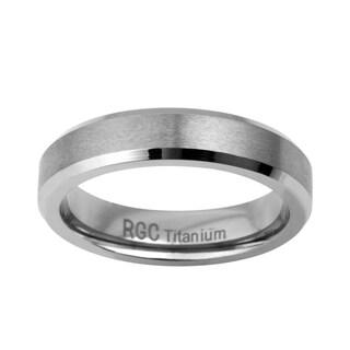 Mens 5mm Titanium Band - Silver