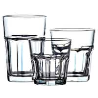 18 Pc Classic Glassware Sets Multi Size Glass Cup Set Tumbler Glass