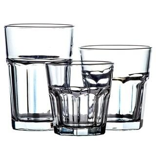 18 Pc Classic Glassware Sets Multi Size Glass Cup Set Tumbler Glass