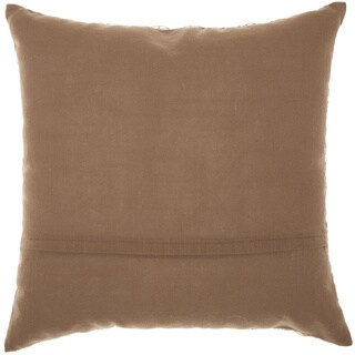 Mina Victory Life Styles Crochet Brown Throw Pillow (20-Inch X 20-Inch)
