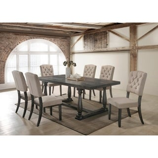 Best Master Furniture Weathered Oak 5 Pieces Dining Set