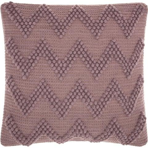 Mina Victory Life Styles Lavendar Chevron Throw Pillow (20-Inch X 20-Inch)
