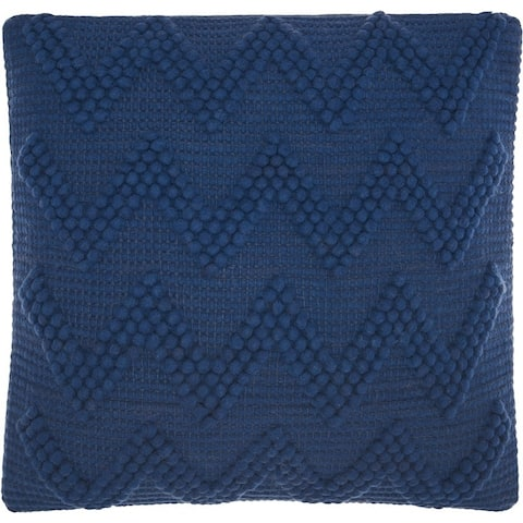 Mina Victory Life Styles Indigo Chevron Throw Pillow (20-Inch X 20-Inch)