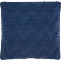 "Mina Victory Life Styles Indigo Chevron Throw Pillow  (20"" x 20"")"