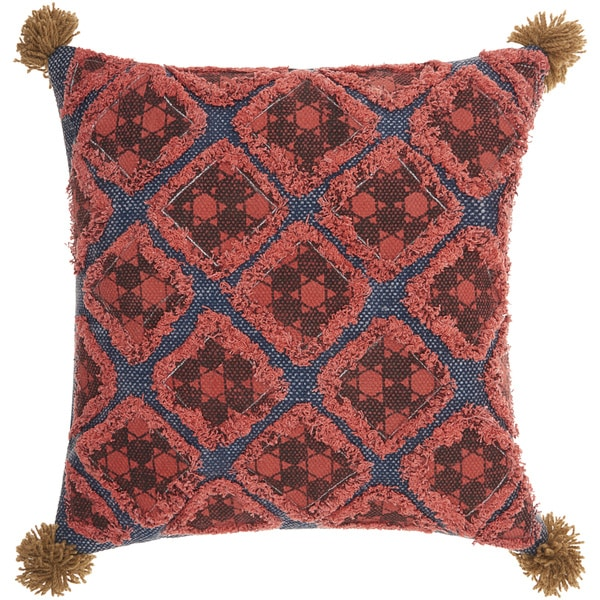 Mina Victory Life Styles Diamond Patches Multicolor Throw Pillow (20-Inch X 20-Inch)