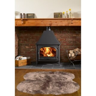Dynasty Natural Brown Sheepskin Shag Area Rug (3'6 x 5'6)