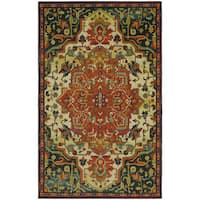 Mohawk Home Prismatic Collection Emiko Floral Red/ Green/ Beige Indoor Rectangular Traditional Area Rug (5' x 8') - 5' x 8'