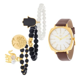 GOLD Fortune NYC Women's WATCH AND BRACELET SET