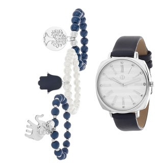SILVER Fortune NYC Women's WATCH AND BRACELET SET
