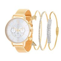 GOLD Fortune NYC Women's  WATCH AND BANGLE SET