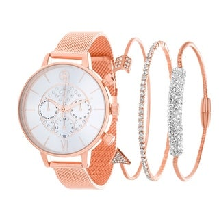 ROSE Fortune NYC Women's WATCH AND BANGLE SET