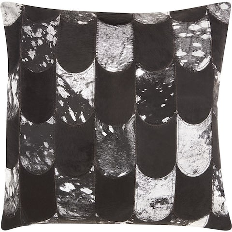"Kathy Ireland Lady Fingers Black/Silver Throw Pillow (20"" x 20"")"